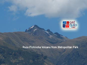 Rucu Pichincha volcano from La Carolina Park in Quito